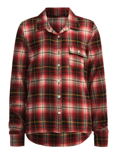 Striped Styled Girls' Flannel Shirt