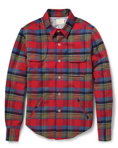 Structured Red Designer Jacket Shirt