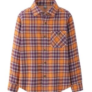 Stun The Sun Orange Flannel Shirt