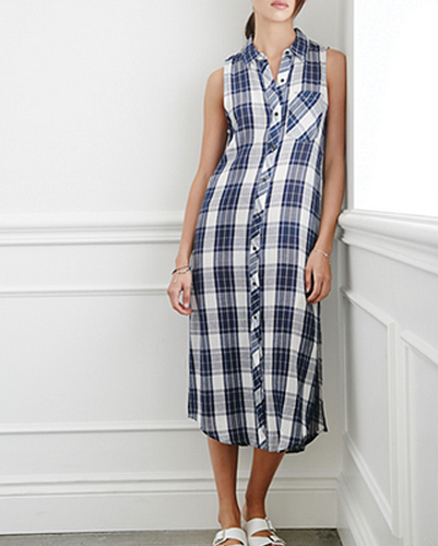 Suave Midi Flannel Dress