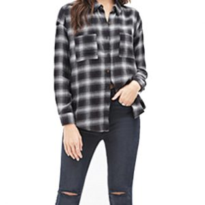 Sultry Black Flannel Shirt
