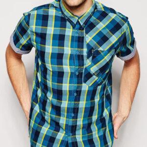 Sun Flux Blue Check Flannel Shirt