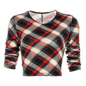 Sweetheart Flannel Crop Top