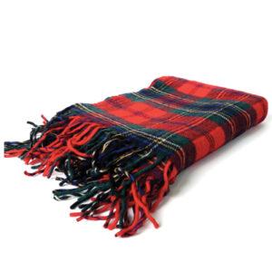 Tassel Embellished Flannel Blanket