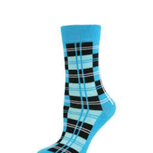 Tiffany Blue Check Socks