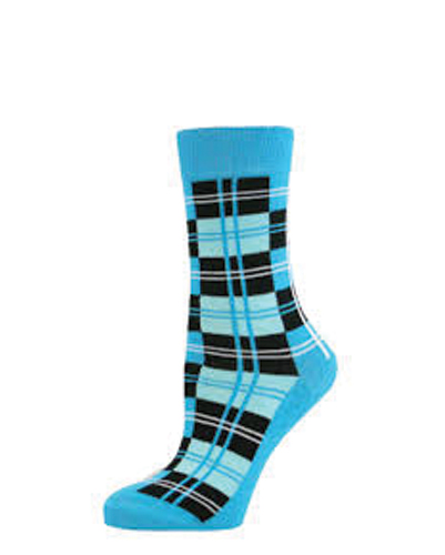 Tiffany Blue Check Socks