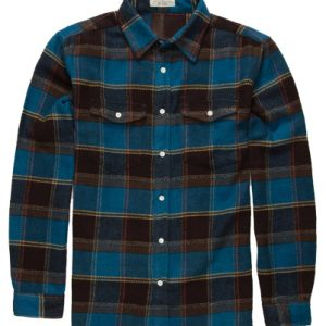 Tom Cat Black and Blue Flannel Shirt