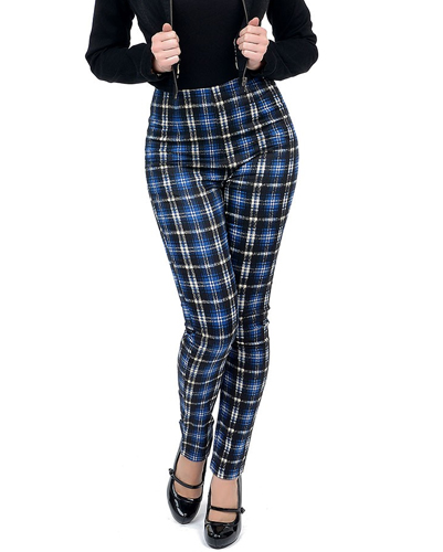 Trendy Blue and White Flannel Pants
