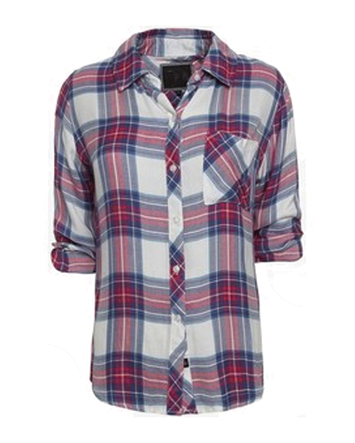 Trendy Trimmed Girls' Flannel Shirts