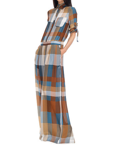 Trendy Women's Flannel Jumpsuit
