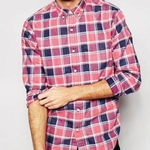 Tri-color Men's Checked Flannel Shirts