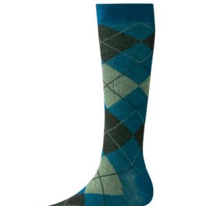 Turquoise Squander Check Socks