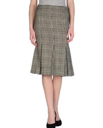 Tweed Awe Check Flannel Skirt