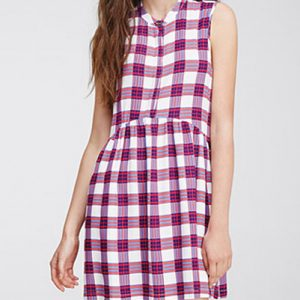 Vivacious Flannel Skater Dress