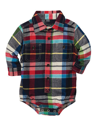 Warm Multi Checked Diaper Shirt