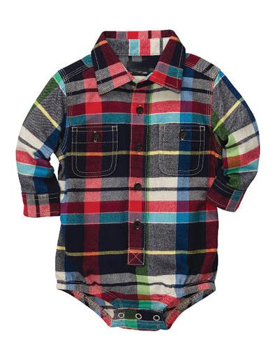 Warm Multi Checked Diaper Shirt