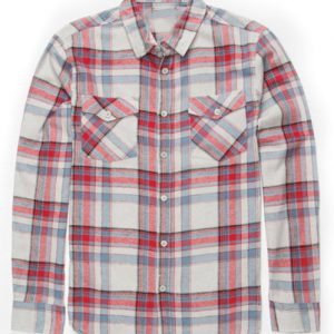 White and Red Flannel Shirt