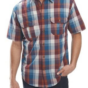 White, Blue and Brown Check Flannel Shirt