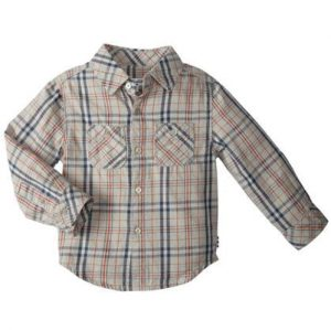 White & Blue Checked Baby Shirt