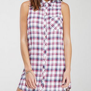 White Serene Plaid Shirt