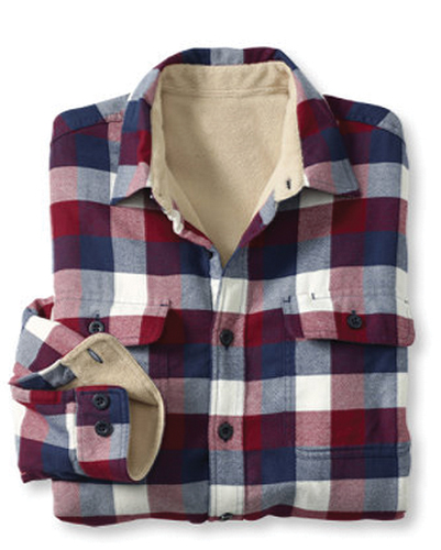 Whoopee Burgundy, Blue Check Shirt