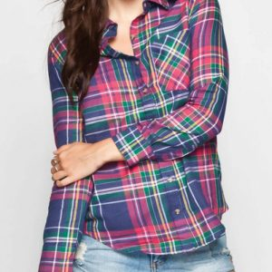 Wild Lily Long Sleeve Flannel Shirt