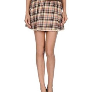 Winnie Brown and Beige Check Flannel Skirt