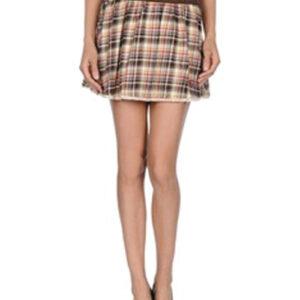 Winnie Brown and Beige Check Flannel Skirt