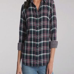 Black Custom Fitted Plaid Flannel Shirts