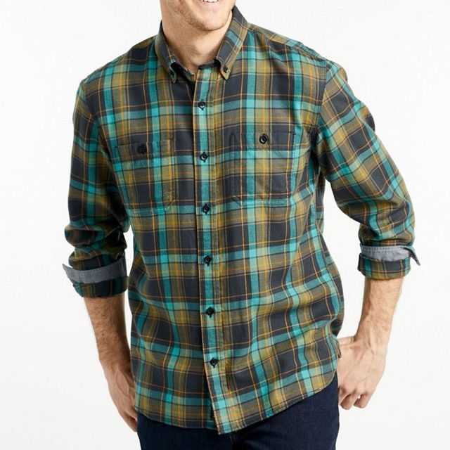 Radiant Green Checkered Flannel Shirts For Men Manufacturer