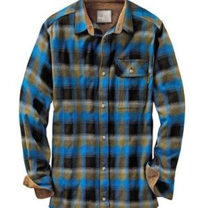 Mens Checked Navy Blue Flannel Shirts Wholesale