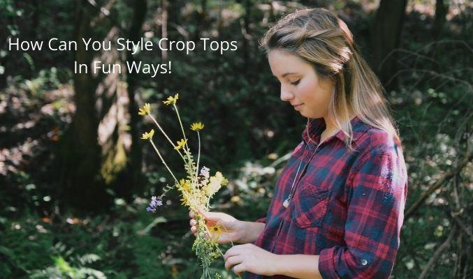 Flannel Crop Top Wholesale