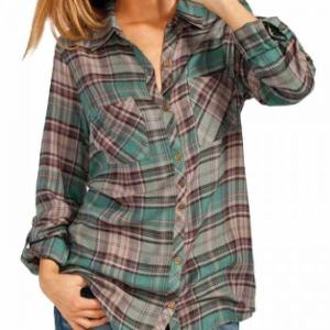 Womens Casual Plaid Flannel Shirts Wholesale
