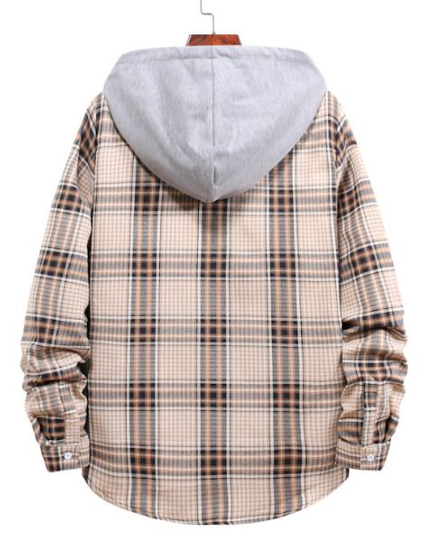 wholesale bulk flannel plaid shirt with hood