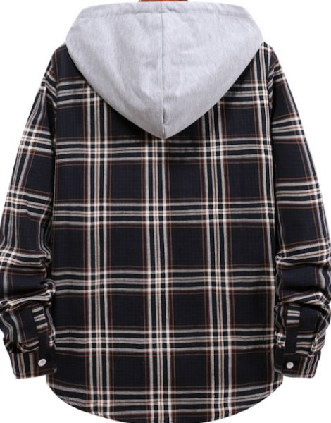 custom flannel plaid shirt with hood manufacturers