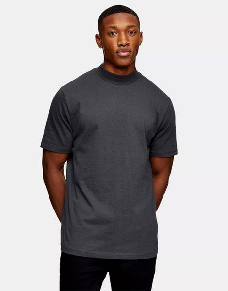 wholesale turtle neck cotton oversized men t-shirt manufacturers