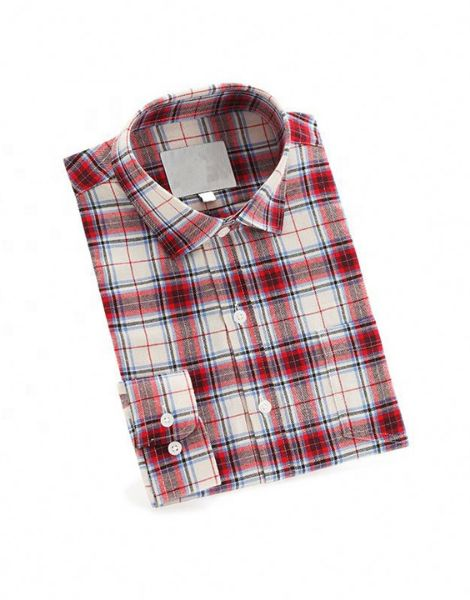 wholesale long sleeve red and black check kids flannel shirts manufacturers
