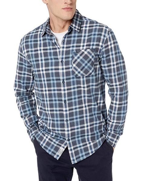 custom cotton long sleeve plaid mens flannel shirt manufacturers