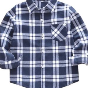 bulk cotton tartan kids plaid flannel shirts